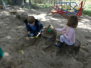 Discovery Friends enjoy outdoor play.
